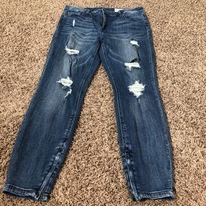 Like New Pistola Tory Distressed Ankle Zip Jeans